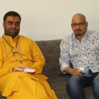 Pujya Karshin Nagendra Ji Maharaj Of  Vrindavan Showers Blessings To Alok Shrivastava By Seeing Film